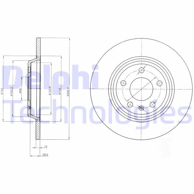 2x TRW Bremsscheiben hinten Voll 300mm Für AUDI A4 A6 Q5 DF4848